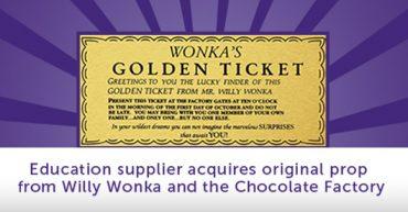 Wonka Golden Ticket Educational Banner